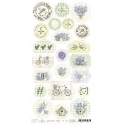 Paper Sheet DIE CUT Elements-Lavender Hills