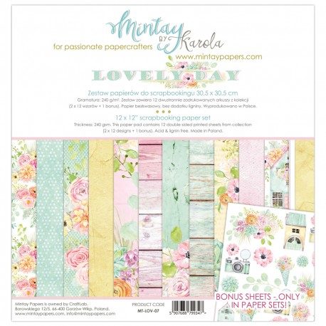Scrapbooking Papers - LOVELY DAY (12x12)