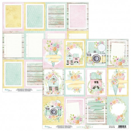 Scrapbooking Paper- 12x12 Sheet - LOVELY DAY 06
