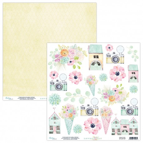 Scrapbooking Paper- 12x12 Sheet - LOVELY DAY  09