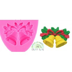 Silicone Mold -Christmas Bells/3pcs