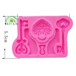 Silicone Mold -A set of Keys and Padlocks