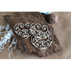 Chipboard - Wedding & Love, Hearts