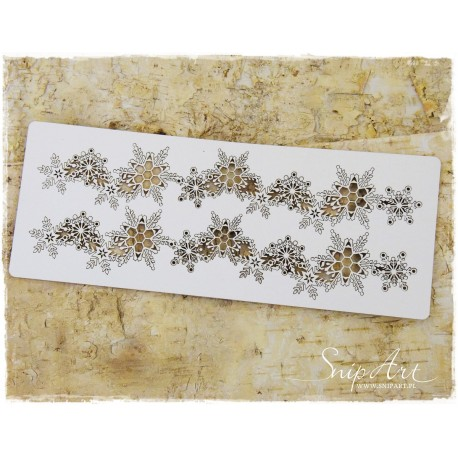 Chipboard - Long Borders with snowflakes/2pcs