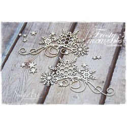 Chipboard - Set of Decors with Snowflakes/A