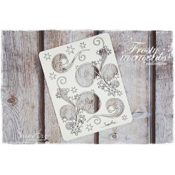 Chipboard - Set of Decors with Snowflakes/B