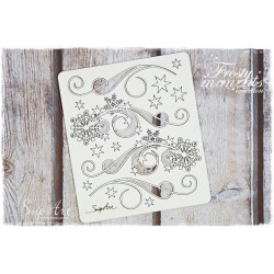 Chipboard - Set of Decors with Snowflakes/C