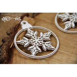 Chipboard - Flowers of Winter - two 2-layers baubles