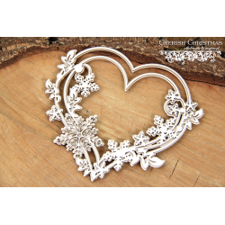 Chipboard - Cherish Christmas - 2 layers Heart