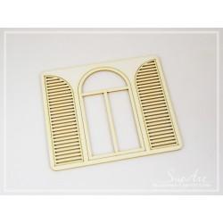 Chipboard - Half-round shutters