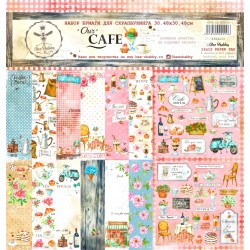 Scrapbooking Paper- OUR CAFE  (12x12)