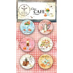 Adhesive Badges /Our Cafe