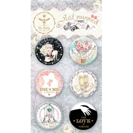 Adhesive Badges /Just Married