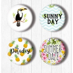 Adhesive Badges /Tropical Paradise