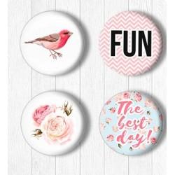 Adhesive Badges /Shabby Day