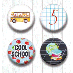 Adhesive Badges /Cool School