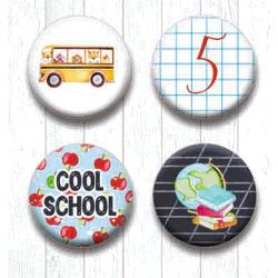 Adhesive Badges /Cool School