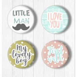 Adhesive Badges /Little Man