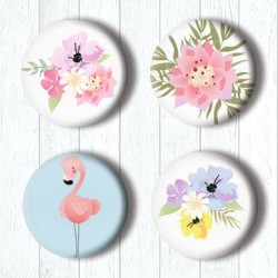 Adhesive Badges /Flamingo