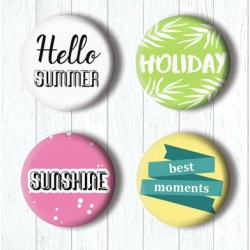Adhesive Badges /Holiday