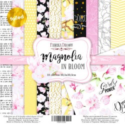 Scrapbooking Paper - MAGNOLIA IN BLOOM (12x12)