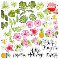Scrapbooking Paper - TROPICAL PARADISE (12x12)