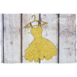 MDF - Hanger with a Wide Dress