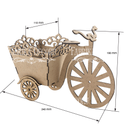 MDF - Bicycle with a flower box/3D