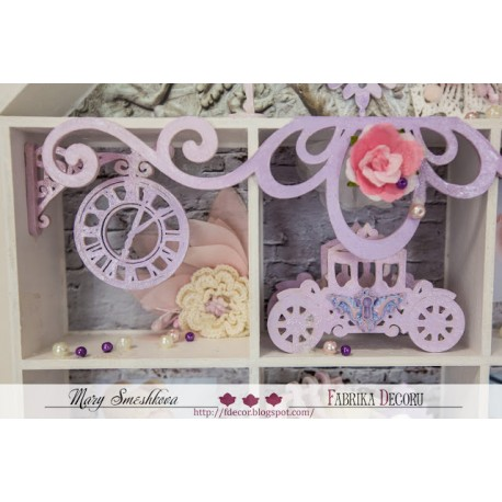 MDF -Kit for Shadow Boxes/Clock,Lamp,Carriage 3D
