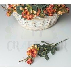 Fabric Peony- DARK ORANGE