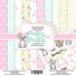 Scrapbooking Paper - PUFFY FLUFFY GIRL (12x12)