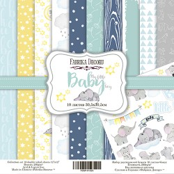 Scrapbooking Paper - MY LITTLE BABY BOY (12x12)