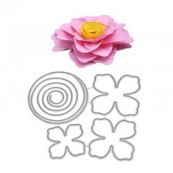 Flower with spiral center - Cutting Dies