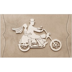 Chipboard - Young couple on a motorbike
