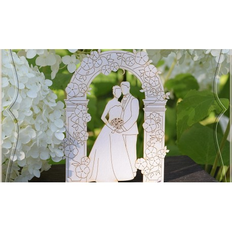 Chipboard - Young couple in a Garden