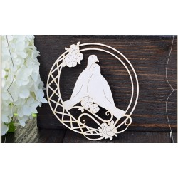 Chipboard - Two doves in a frame
