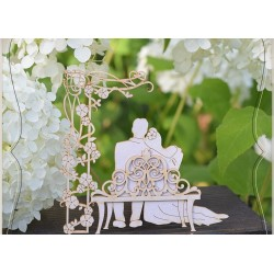 Chipboard - Young couple on the bench - 2D