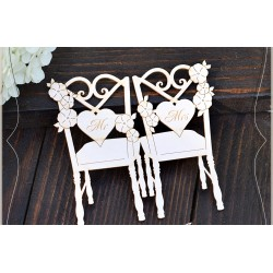 Chipboard - Mr & Mrs on the chairs