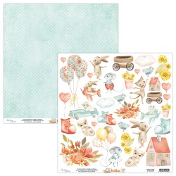 Scrapbooking Paper- 12x12 Sheet -KIDDIE 09