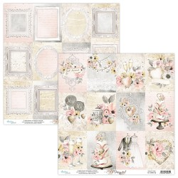 Scrapbooking Paper- 12x12 Sheet - MARRY ME 06