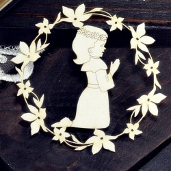 Chipboard - Communion Girl  in a frame