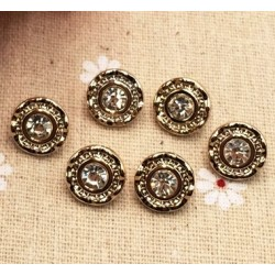 Rhinestone Button 11mm (51)