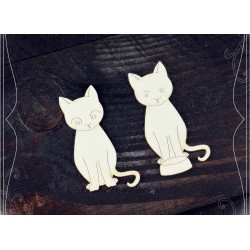 Chipboard - 2 Cats