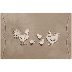 Chipboard - Hen's Family