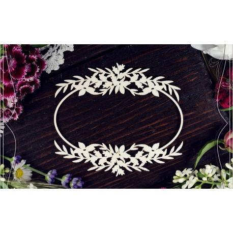 Chipboard - Flower Frame