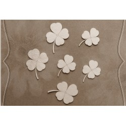 Chipboard -  4-leaf Clover / 6 pcs