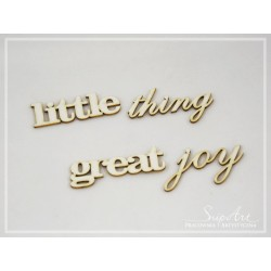 "Chipboard - ""little thing great joy"""