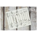 Chipboard- Ornaments with feathers/ 10pcs