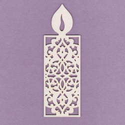 Chipboard - Lace Candle