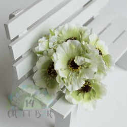 Silk Poppy Flower - LIME